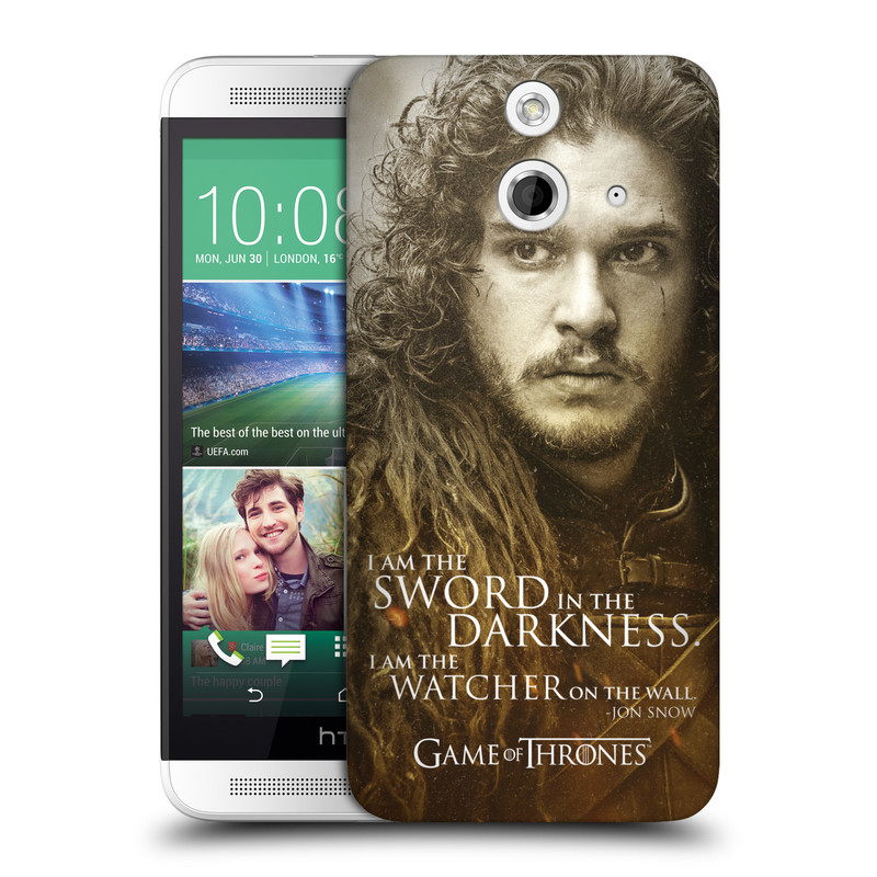 Plastové pouzdro na mobil HTC ONE E8 HEAD CASE Hra o trůny - Jon Snow (Plastový kryt či obal na mobilní telefon s licencovaným motivem Hra o trůny - Game Of Thrones pro HTC ONE E8)