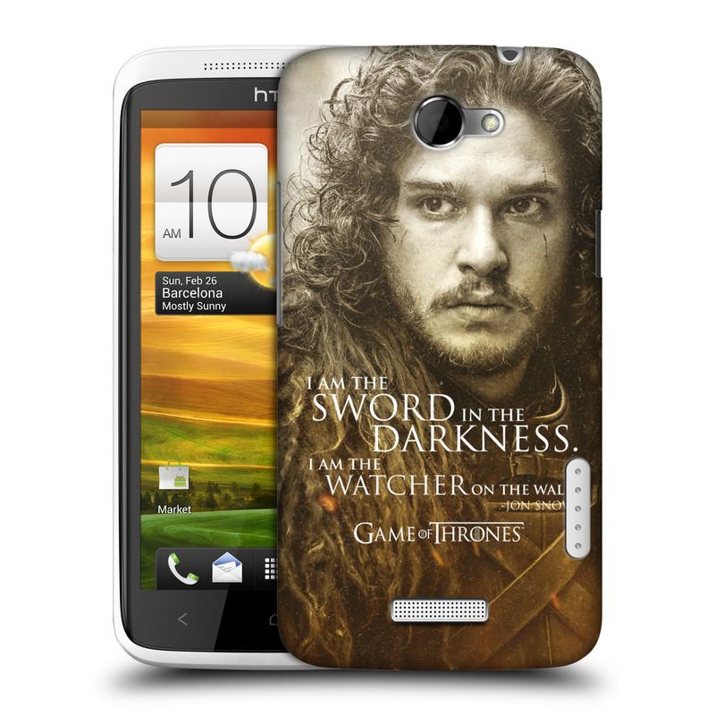 Plastové pouzdro na mobil HTC ONE X HEAD CASE Hra o trůny - Jon Snow (Plastový kryt či obal na mobilní telefon s licencovaným motivem Hra o trůny - Game Of Thrones pro HTC ONE X)