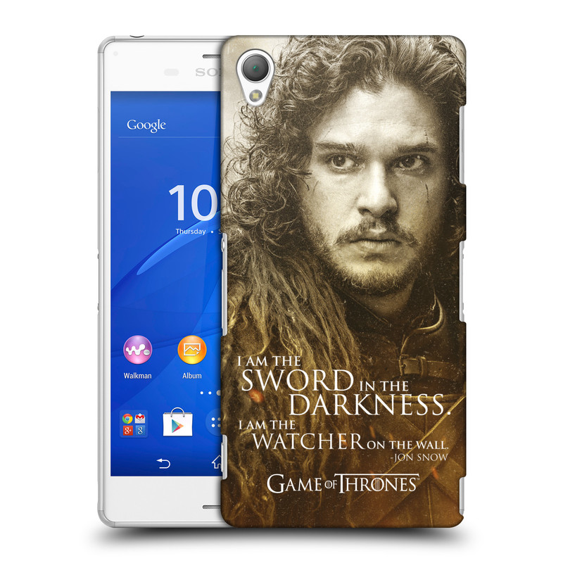 Plastové pouzdro na mobil Sony Xperia Z3 D6603 HEAD CASE Hra o trůny - Jon Snow (Plastový kryt či obal na mobilní telefon s licencovaným motivem Hra o trůny - Game Of Thrones pro Sony Xperia Z3)