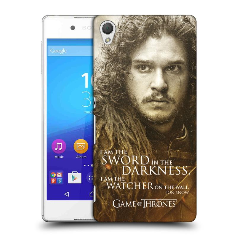 Plastové pouzdro na mobil Sony Xperia Z3+ (Plus) HEAD CASE Hra o trůny - Jon Snow (Plastový kryt či obal na mobilní telefon s licencovaným motivem Hra o trůny - Game Of Thrones pro Sony Xperia Z3+ a Sony Xperia Z4 )