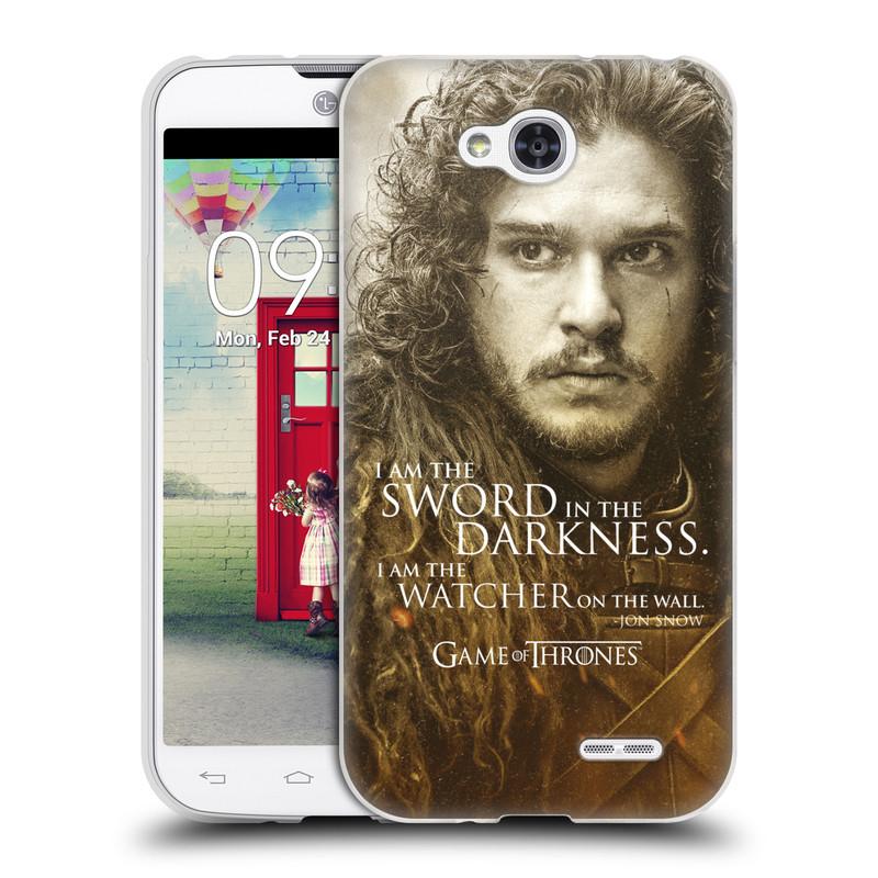 Silikonové pouzdro na mobil LG L90 HEAD CASE Hra o trůny - Jon Snow (Silikonový kryt či obal na mobilní telefon s licencovaným motivem Hra o trůny - Game Of Thrones pro LG L90 D405n)