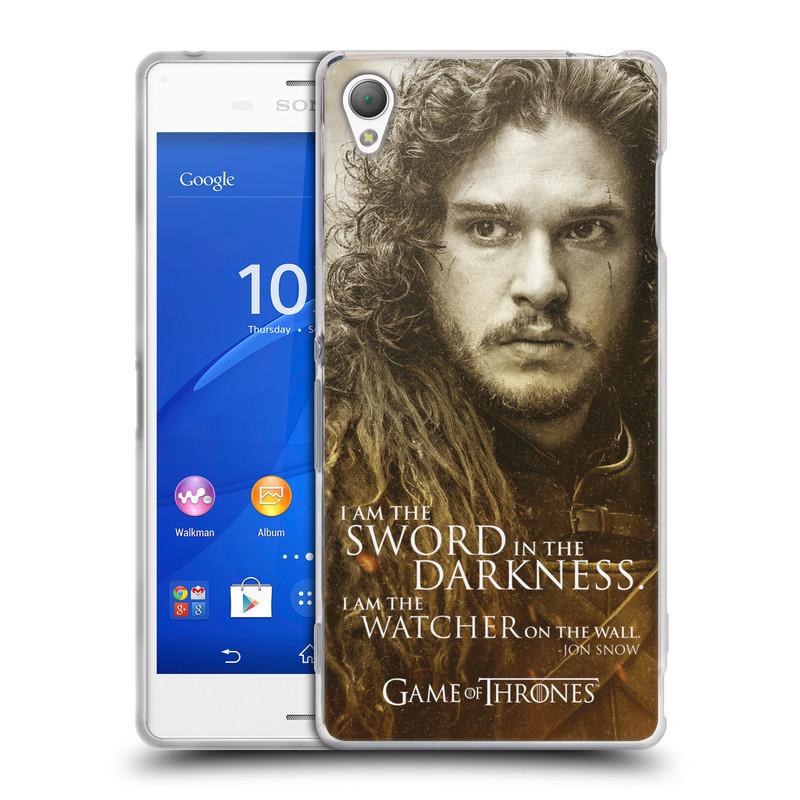 Silikonové pouzdro na mobil Sony Xperia Z3 D6603 HEAD CASE Hra o trůny - Jon Snow (Silikonový kryt či obal na mobilní telefon s licencovaným motivem Hra o trůny - Game Of Thrones pro Sony Xperia Z3)