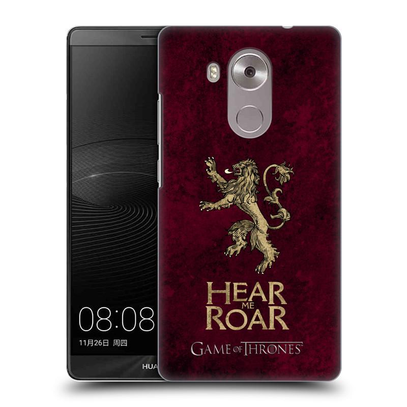 Plastové pouzdro na mobil Huawei Mate 8 HEAD CASE Hra o trůny - Sigils Lannister - Hear Me Roar (Plastový kryt či obal na mobilní telefon s licencovaným motivem Hra o trůny - Game Of Thrones pro Huawei Ascend MATE8)
