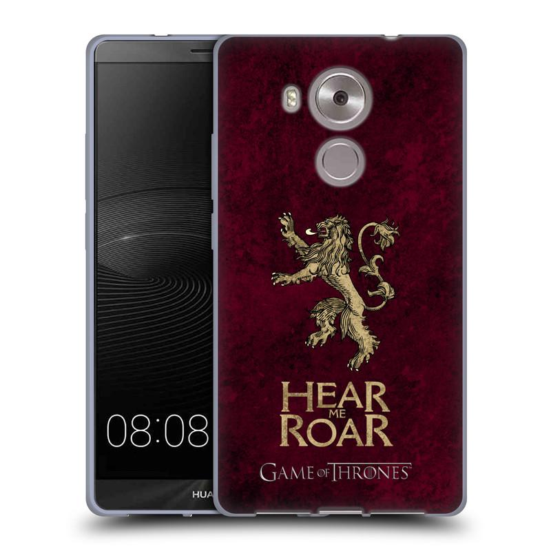 Silikonové pouzdro na mobil Huawei Ascend Mate 8 HEAD CASE Hra o trůny - Sigils Lannister - Hear Me Roar (Silikonový kryt či obal na mobilní telefon s licencovaným motivem Hra o trůny - Game Of Thrones pro Huawei Ascend MATE8)