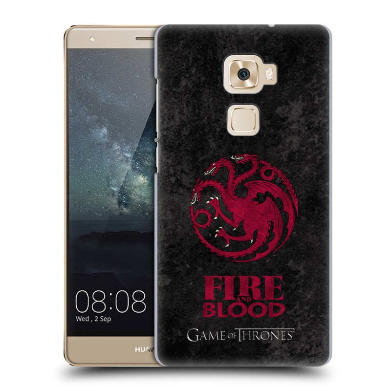 Plastové pouzdro na mobil Huawei Mate S HEAD CASE Hra o trůny - Sigils Targaryen - Fire and Blood (Plastový kryt či obal na mobilní telefon s licencovaným motivem Hra o trůny - Game Of Thrones pro Huawei Mate S)