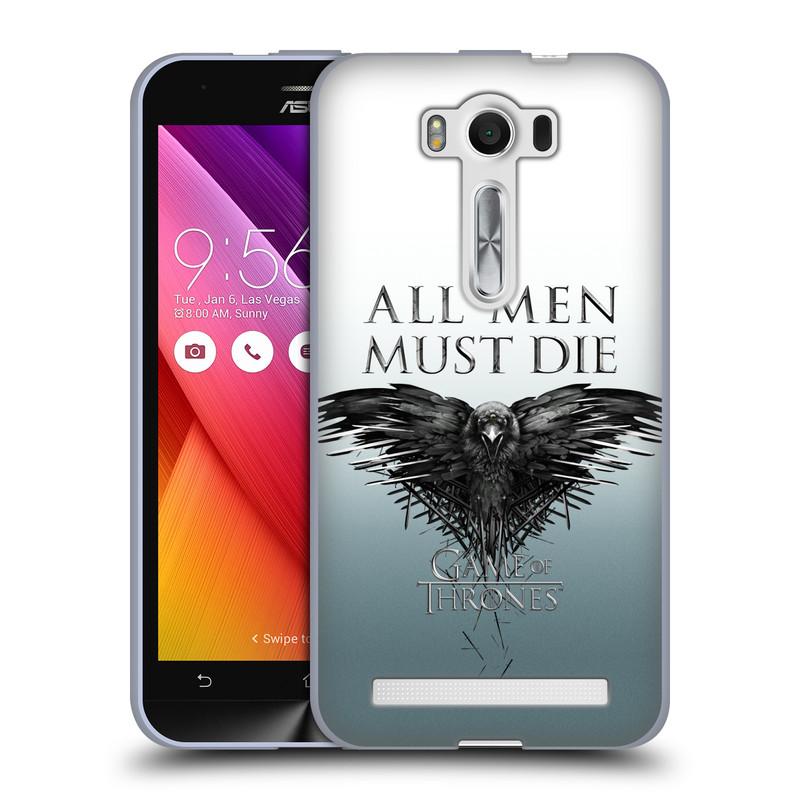 """Silikonové pouzdro na mobil Asus ZenFone 2 Laser ZE500KL HEAD CASE Hra o trůny - All men must die (Silikonový kryt či obal na mobilní telefon s licencovaným motivem Hra o trůny / Game of Thrones pro Asus ZenFone 2 Laser ZE500KL s 5"""" displejem)"""