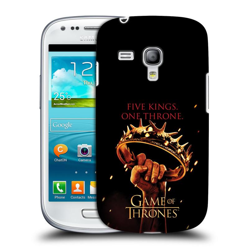 Plastové pouzdro na mobil Samsung Galaxy S III Mini VE HEAD CASE Hra o trůny - Jeden trůn (Kryt či obal na mobilní telefon s licencovaným motivem Hra o trůny / Game Of Thrones pro Samsung Galaxy S3 Mini VE GT-i8200)