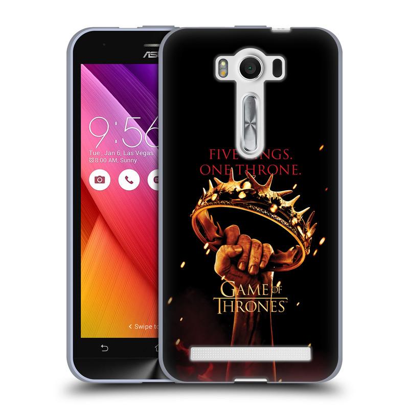 """Silikonové pouzdro na mobil Asus ZenFone 2 Laser ZE500KL HEAD CASE Hra o trůny - Jeden trůn (Silikonový kryt či obal na mobilní telefon s licencovaným motivem Hra o trůny / Game Of Thrones pro Asus ZenFone 2 Laser ZE500KL s 5"""" displejem)"""