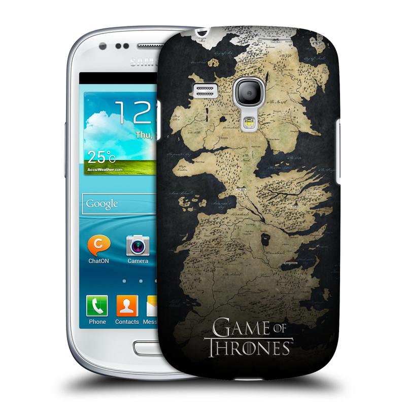Plastové pouzdro na mobil Samsung Galaxy S III Mini VE HEAD CASE Hra o trůny - Mapa západozemí (Kryt či obal na mobilní telefon s licencovaným motivem Hra o trůny / Game Of Thrones pro Samsung Galaxy S3 Mini VE GT-i8200)