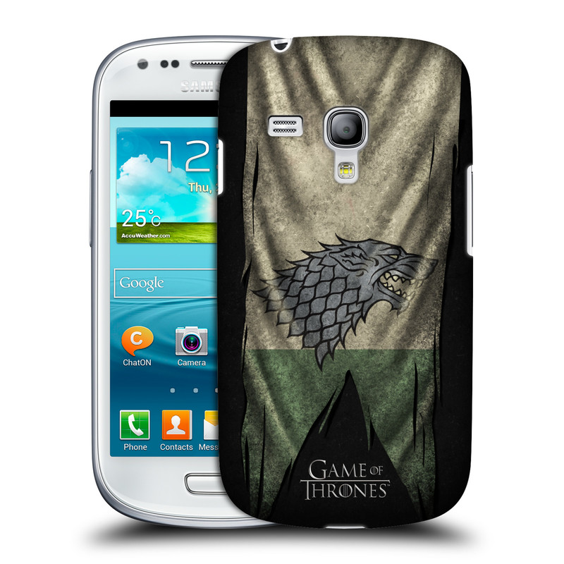 Plastové pouzdro na mobil Samsung Galaxy S III Mini VE HEAD CASE Hra o trůny - Stark Flag (Kryt či obal na mobilní telefon s licencovaným motivem Hra o trůny / Game of Thrones pro Samsung Galaxy S3 Mini VE GT-i8200)