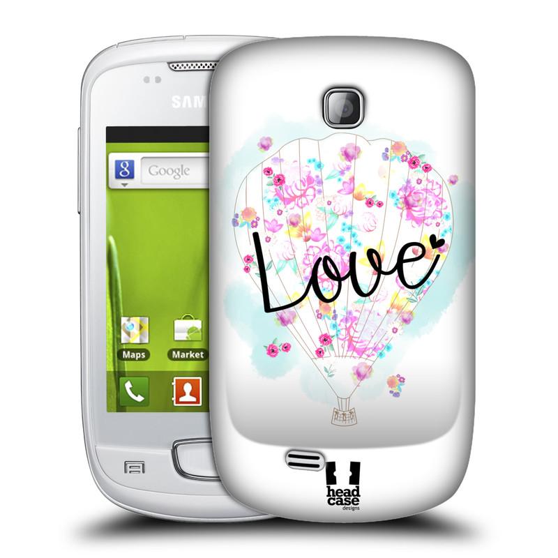 Plastové pouzdro na mobil Samsung Galaxy Mini HEAD CASE Balón Love (Plastový kryt či obal na mobilní telefon Samsung Galaxy Mini GT-S5570 / GT-S5570i)