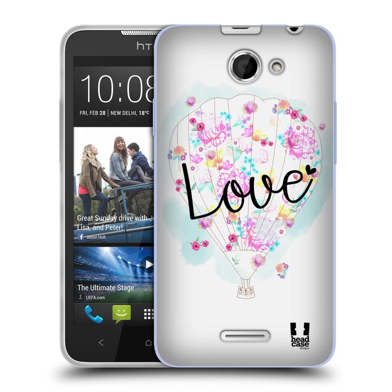 Silikonové pouzdro na mobil HTC Desire 516 HEAD CASE Balón Love (Silikonový kryt či obal na mobilní telefon HTC Desire 516 Dual SIM)