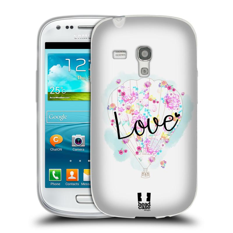 Silikonové pouzdro na mobil Samsung Galaxy S3 Mini VE HEAD CASE Balón Love (Silikonový kryt či obal na mobilní telefon Samsung Galaxy S3 Mini VE GT-i8200)