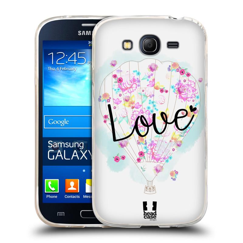 Silikonové pouzdro na mobil Samsung Galaxy Grand Neo HEAD CASE Balón Love (Silikonový kryt či obal na mobilní telefon Samsung Galaxy Grand Neo GT-I9060)
