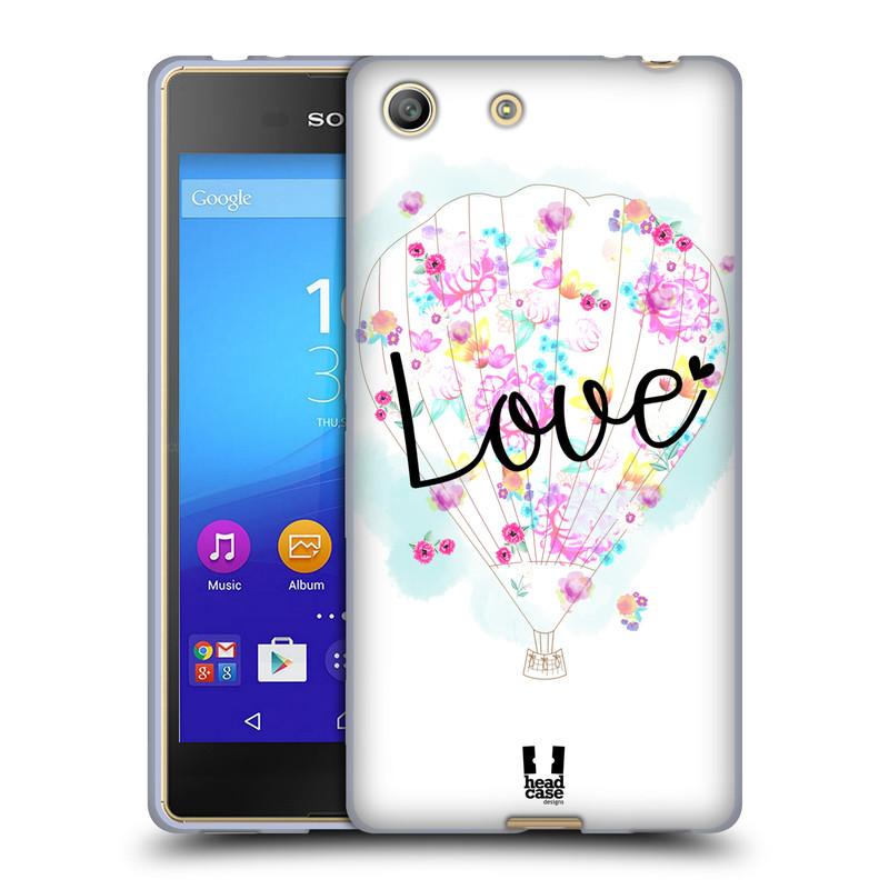 Silikonové pouzdro na mobil Sony Xperia M5 HEAD CASE Balón Love (Silikonový kryt či obal na mobilní telefon Sony Xperia M5 Dual SIM / Aqua)