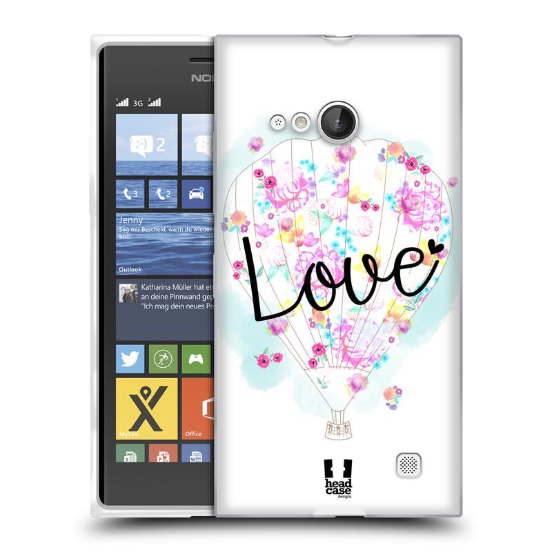 Silikonové pouzdro na mobil Nokia Lumia 730 Dual SIM HEAD CASE Balón Love (Silikonový kryt či obal na mobilní telefon Nokia Lumia 730 Dual SIM)