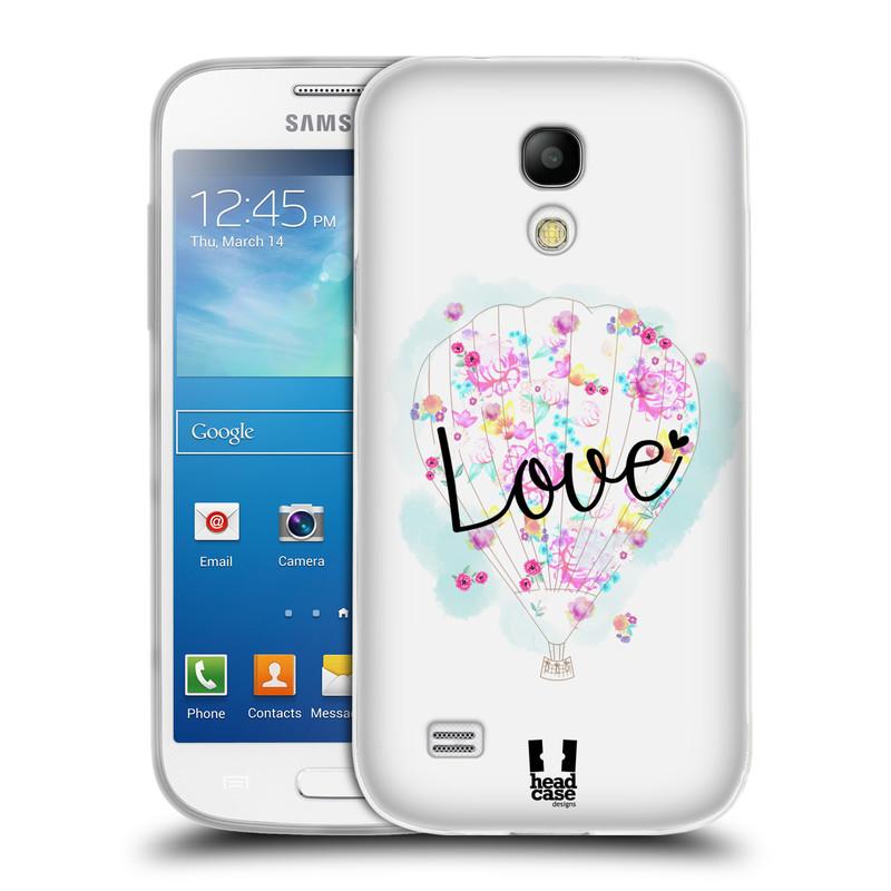Silikonové pouzdro na mobil Samsung Galaxy S4 Mini HEAD CASE Balón Love (Silikonový kryt či obal na mobilní telefon Samsung Galaxy S4 Mini GT-i9195 / i9190)