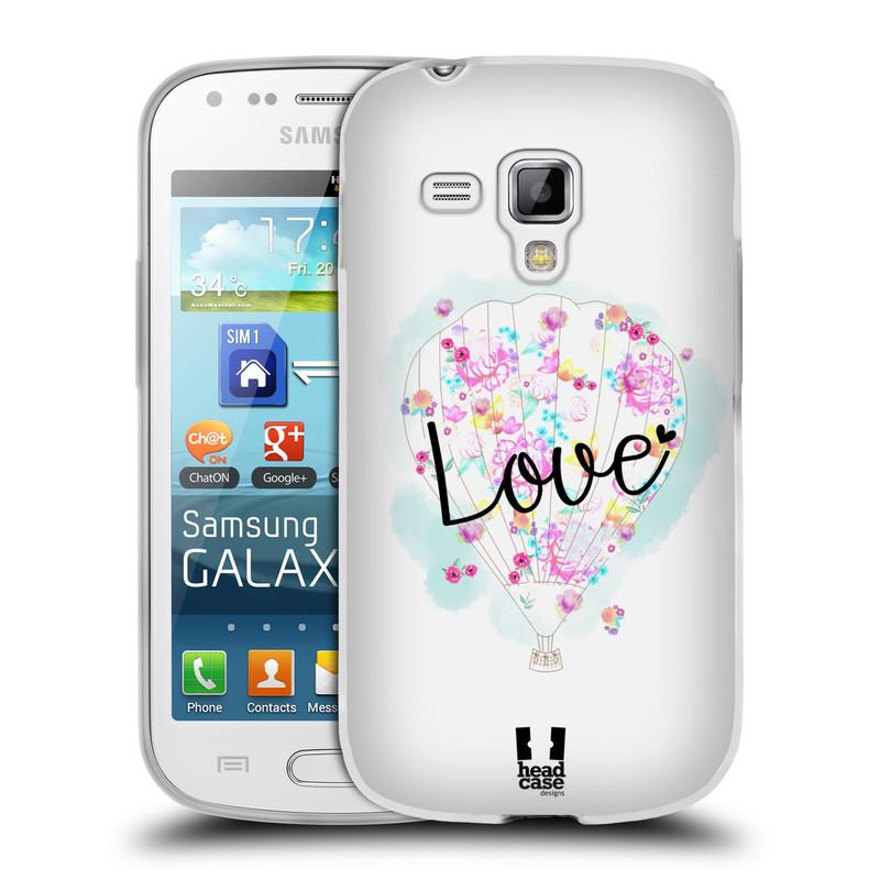 Silikonové pouzdro na mobil Samsung Galaxy S Duos HEAD CASE Balón Love (Silikonový kryt či obal na mobilní telefon Samsung Galaxy S Duos GT-S7562)
