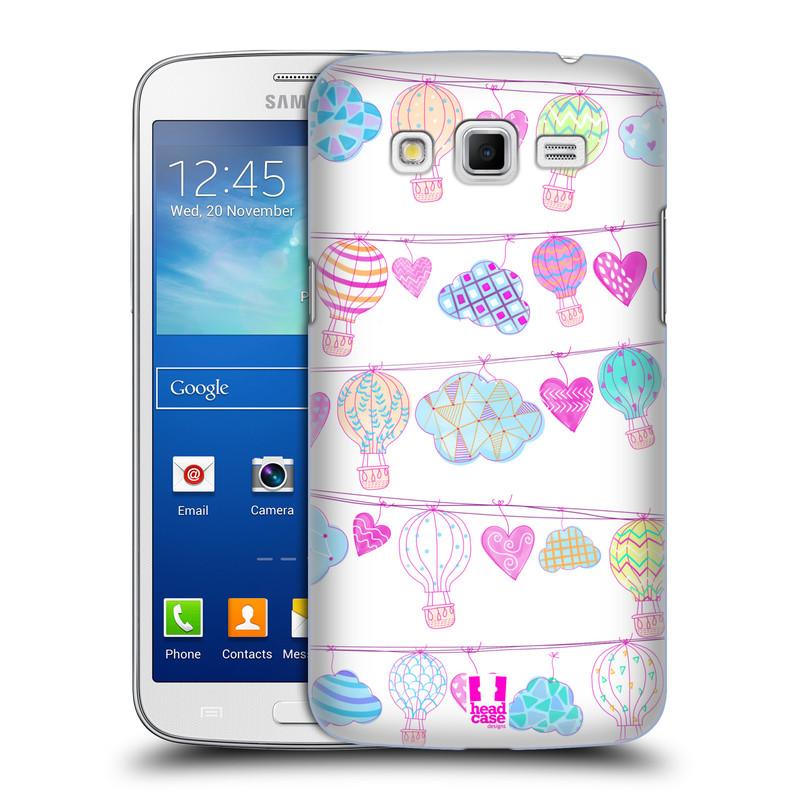 Plastové pouzdro na mobil Samsung Galaxy Grand 2 HEAD CASE Balóny a srdíčka (Plastový kryt či obal na mobilní telefon Samsung Galaxy Grand 2 LTE SM-G7105F a Samsung Galaxy Grand 2 Duos SM-G7102F)
