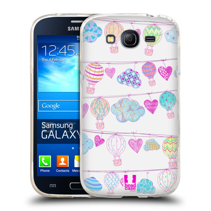 Silikonové pouzdro na mobil Samsung Galaxy Grand Neo HEAD CASE Balóny a srdíčka (Silikonový kryt či obal na mobilní telefon Samsung Galaxy Grand Neo GT-I9060)