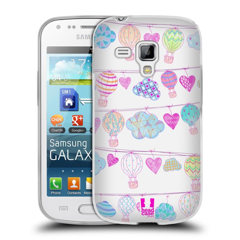 Silikonové pouzdro na mobil Samsung Galaxy S Duos HEAD CASE Balóny a srdíčka (Silikonový kryt či obal na mobilní telefon Samsung Galaxy S Duos GT-S7562)