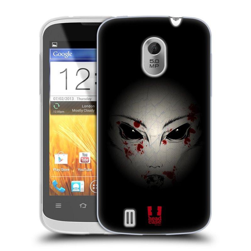 Silikonové pouzdro na mobil ZTE Blade III HEAD CASE Macabre (Silikonový kryt či obal na mobilní telefon ZTE Blade 3)