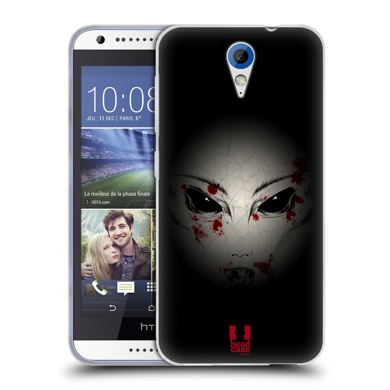 Silikonové pouzdro na mobil HTC Desire 620 HEAD CASE Macabre (Silikonový kryt či obal na mobilní telefon HTC Desire 620)
