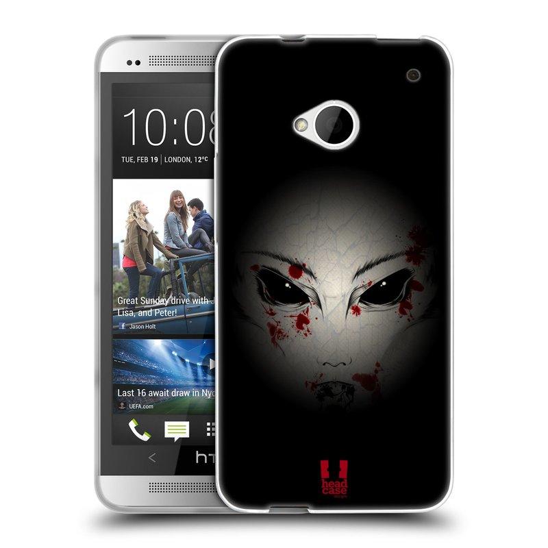 Silikonové pouzdro na mobil HTC ONE M7 HEAD CASE Macabre (Silikonový kryt či obal na mobilní telefon HTC ONE M7)