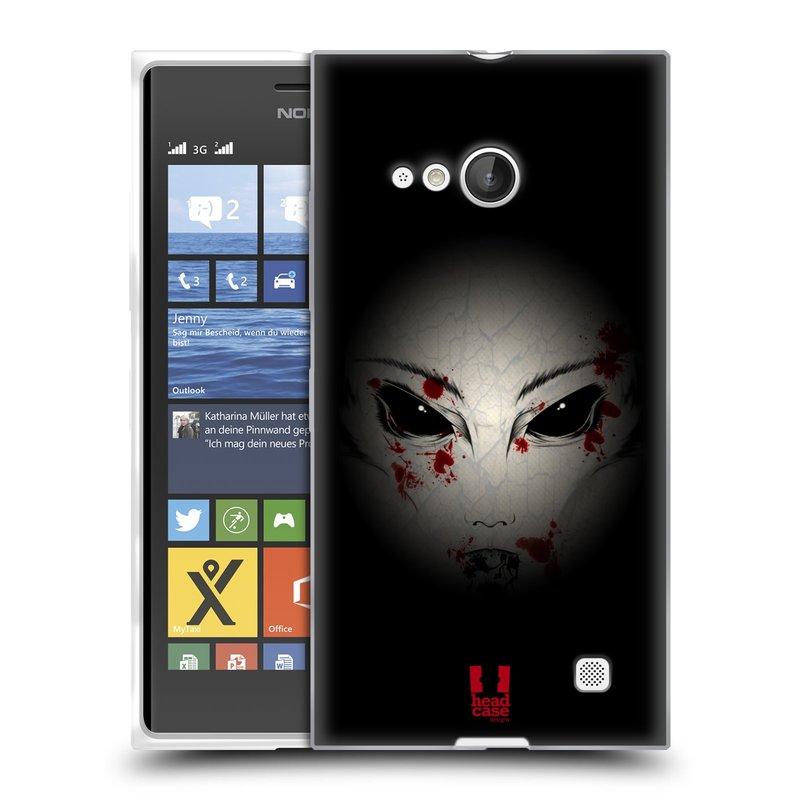 Silikonové pouzdro na mobil Nokia Lumia 735 HEAD CASE Macabre (Silikonový kryt či obal na mobilní telefon Nokia Lumia 735)