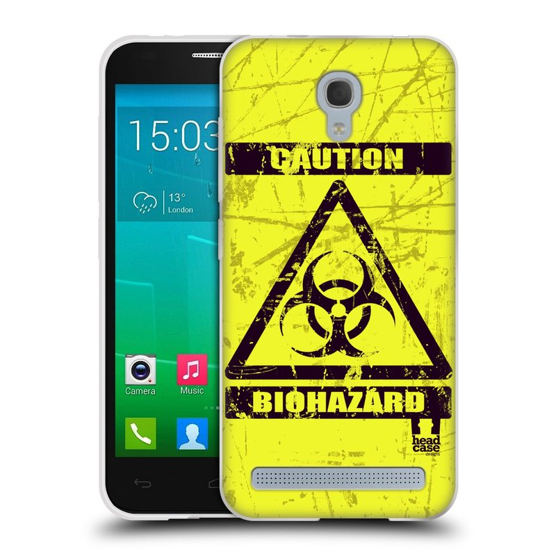 Silikonové pouzdro na mobil Alcatel One Touch Idol 2 Mini S 6036Y HEAD CASE BIOHAZARD (Silikonový kryt či obal na mobilní telefon Alcatel Idol 2 Mini S OT-6036Y)