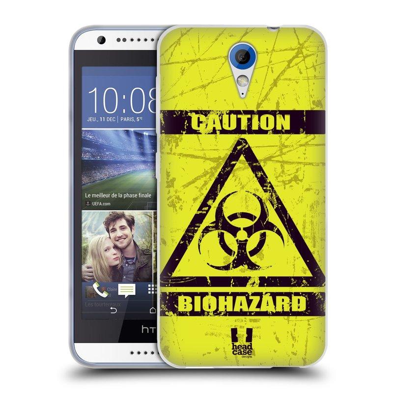 Silikonové pouzdro na mobil HTC Desire 620 HEAD CASE BIOHAZARD (Silikonový kryt či obal na mobilní telefon HTC Desire 620)