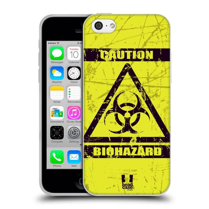 Silikonové pouzdro na mobil Apple iPhone 5C HEAD CASE BIOHAZARD (Silikonový kryt či obal na mobilní telefon Apple iPhone 5C)
