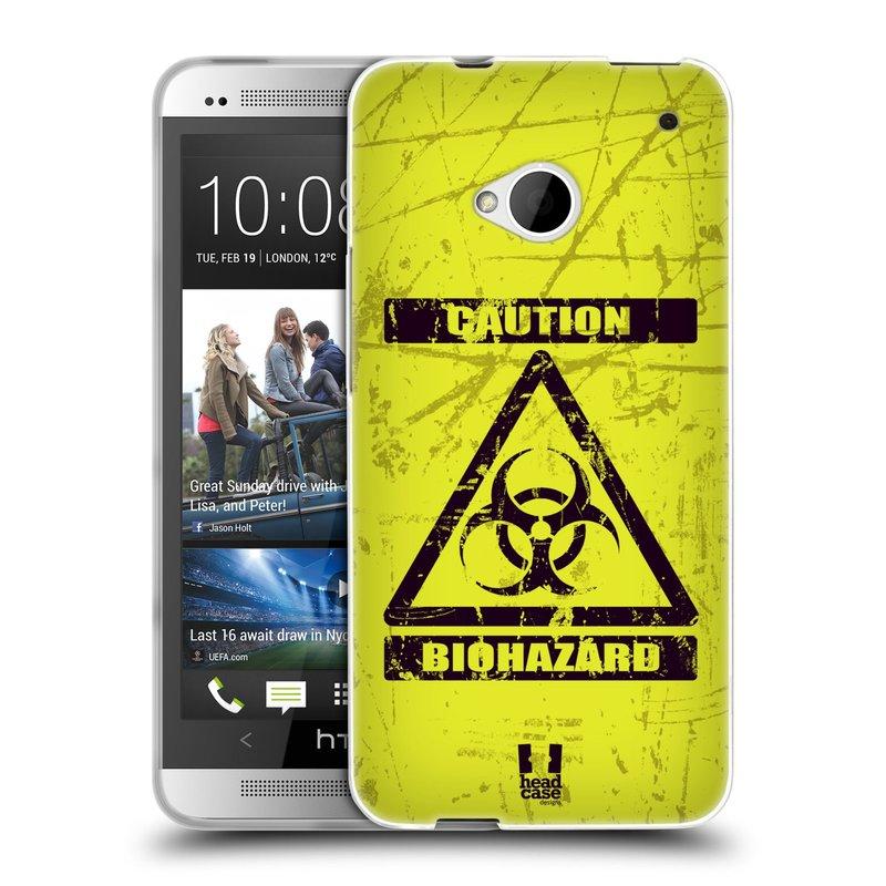 Silikonové pouzdro na mobil HTC ONE M7 HEAD CASE BIOHAZARD (Silikonový kryt či obal na mobilní telefon HTC ONE M7)