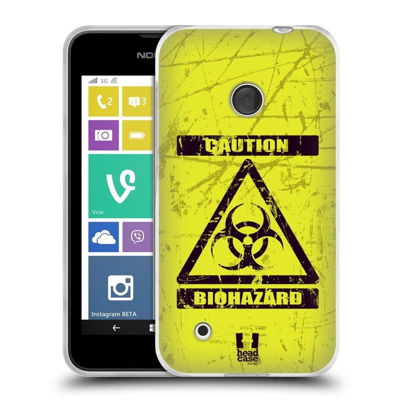 Silikonové pouzdro na mobil Nokia Lumia 530 HEAD CASE BIOHAZARD (Silikonový kryt či obal na mobilní telefon Nokia Lumia 530)