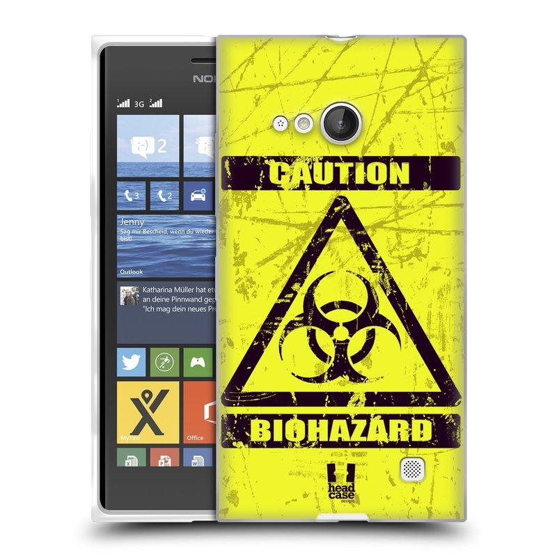 Silikonové pouzdro na mobil Nokia Lumia 735 HEAD CASE BIOHAZARD (Silikonový kryt či obal na mobilní telefon Nokia Lumia 735)