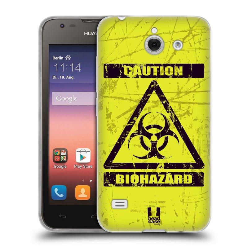 Silikonové pouzdro na mobil Huawei Ascend Y550 HEAD CASE BIOHAZARD (Silikonový kryt či obal na mobilní telefon Huawei Ascend Y550)