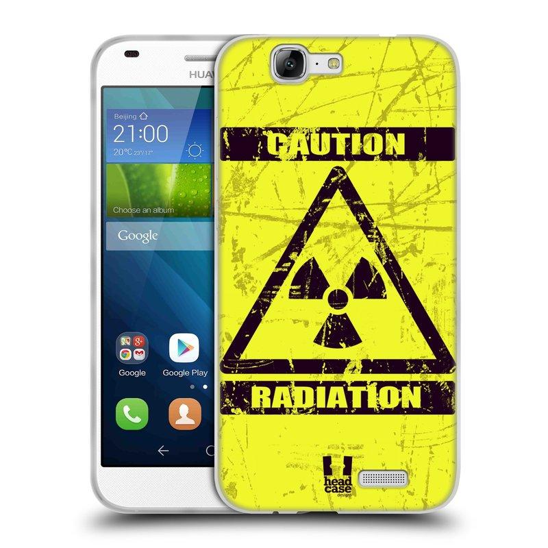 Silikonové pouzdro na mobil Huawei Ascend G7 HEAD CASE RADIACE (Silikonový kryt či obal na mobilní telefon Huawei Ascend G7)