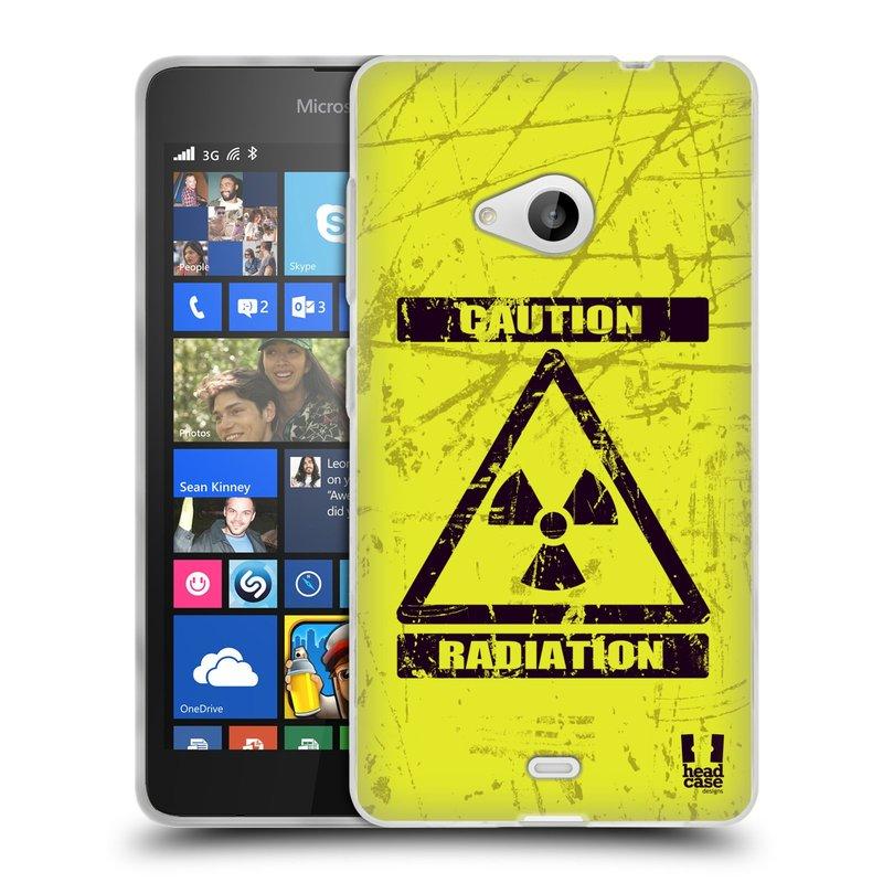 Silikonové pouzdro na mobil Microsoft Lumia 535 HEAD CASE RADIACE (Silikonový kryt či obal na mobilní telefon Microsoft Lumia 535)