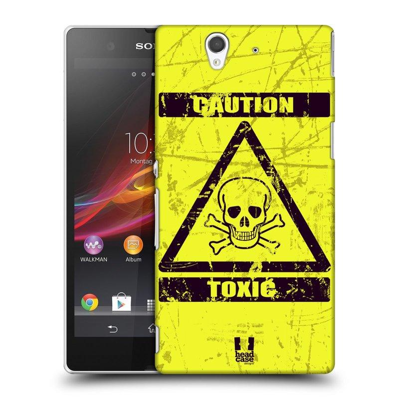Plastové pouzdro na mobil Sony Xperia Z C6603 HEAD CASE TOXIC (Kryt či obal na mobilní telefon Sony Xperia Z )