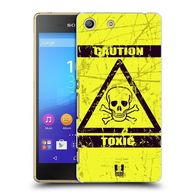 Plastové pouzdro na mobil Sony Xperia M5 HEAD CASE TOXIC (Kryt či obal na mobilní telefon Sony Xperia M5 Aqua)