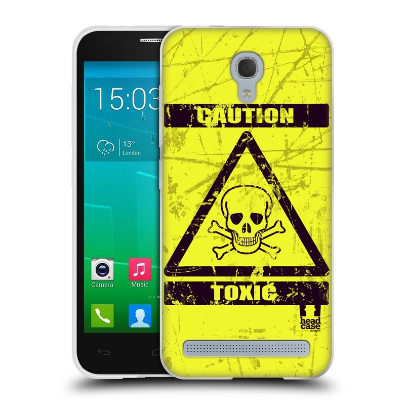Silikonové pouzdro na mobil Alcatel One Touch Idol 2 Mini S 6036Y HEAD CASE TOXIC (Silikonový kryt či obal na mobilní telefon Alcatel Idol 2 Mini S OT-6036Y)