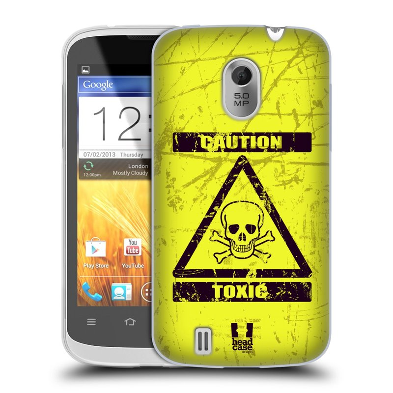 Silikonové pouzdro na mobil ZTE Blade III HEAD CASE TOXIC (Silikonový kryt či obal na mobilní telefon ZTE Blade 3)