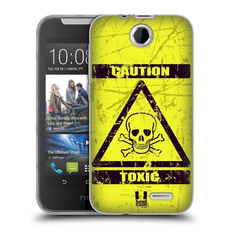 Silikonové pouzdro na mobil HTC Desire 310 HEAD CASE TOXIC (Silikonový kryt či obal na mobilní telefon HTC Desire 310)