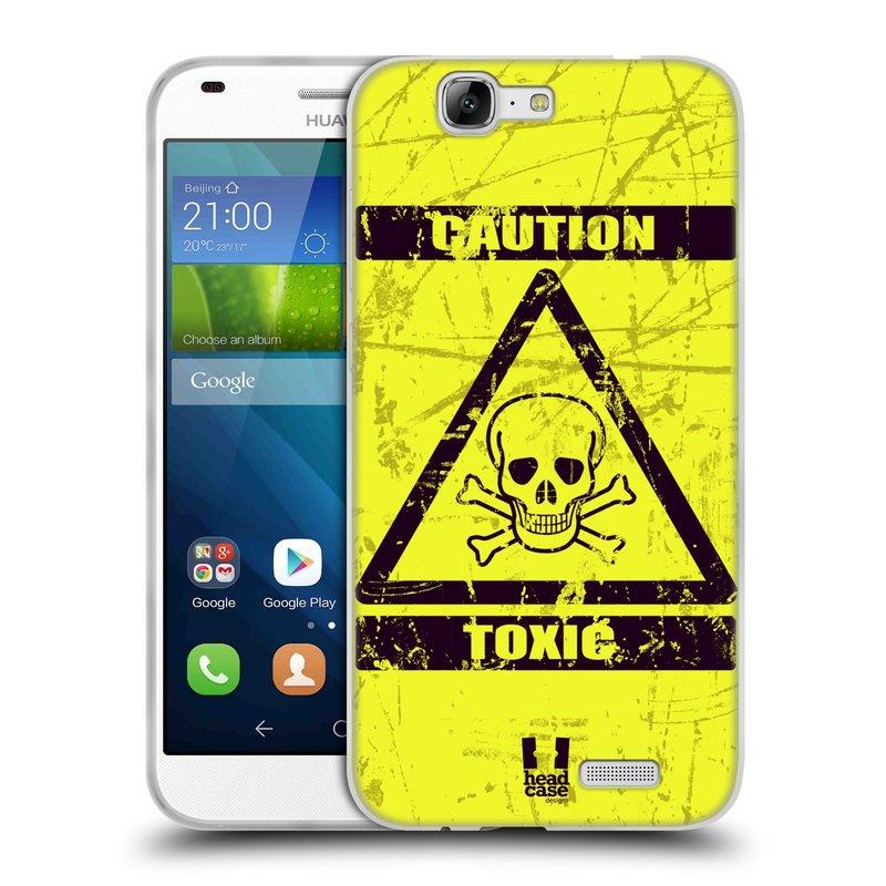 Silikonové pouzdro na mobil Huawei Ascend G7 HEAD CASE TOXIC (Silikonový kryt či obal na mobilní telefon Huawei Ascend G7)