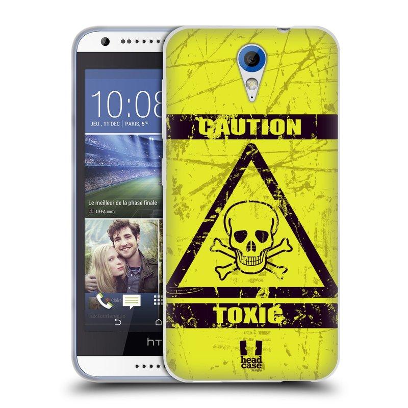 Silikonové pouzdro na mobil HTC Desire 620 HEAD CASE TOXIC (Silikonový kryt či obal na mobilní telefon HTC Desire 620)