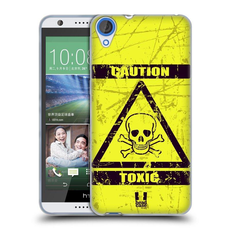 Silikonové pouzdro na mobil HTC Desire 820 HEAD CASE TOXIC (Silikonový kryt či obal na mobilní telefon HTC Desire 820)