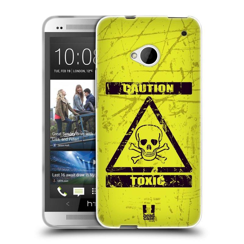 Silikonové pouzdro na mobil HTC ONE M7 HEAD CASE TOXIC (Silikonový kryt či obal na mobilní telefon HTC ONE M7)