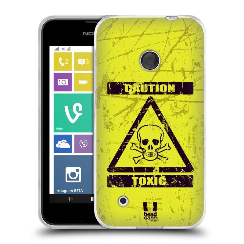 Silikonové pouzdro na mobil Nokia Lumia 530 HEAD CASE TOXIC (Silikonový kryt či obal na mobilní telefon Nokia Lumia 530)