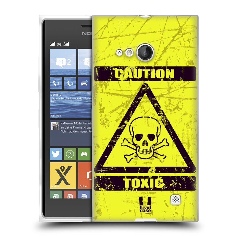 Silikonové pouzdro na mobil Nokia Lumia 735 HEAD CASE TOXIC (Silikonový kryt či obal na mobilní telefon Nokia Lumia 735)