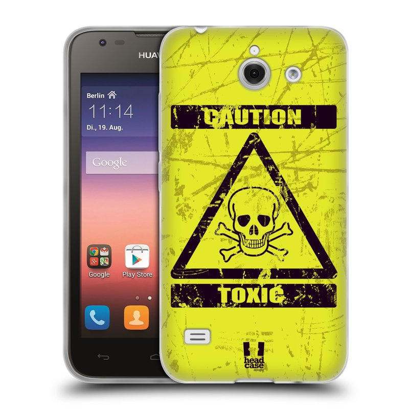Silikonové pouzdro na mobil Huawei Ascend Y550 HEAD CASE TOXIC (Silikonový kryt či obal na mobilní telefon Huawei Ascend Y550)
